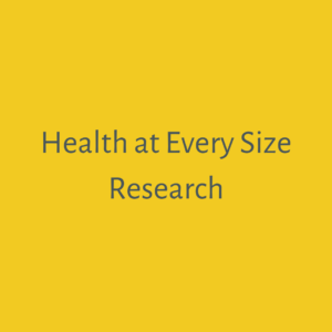 Health at Every Size research
