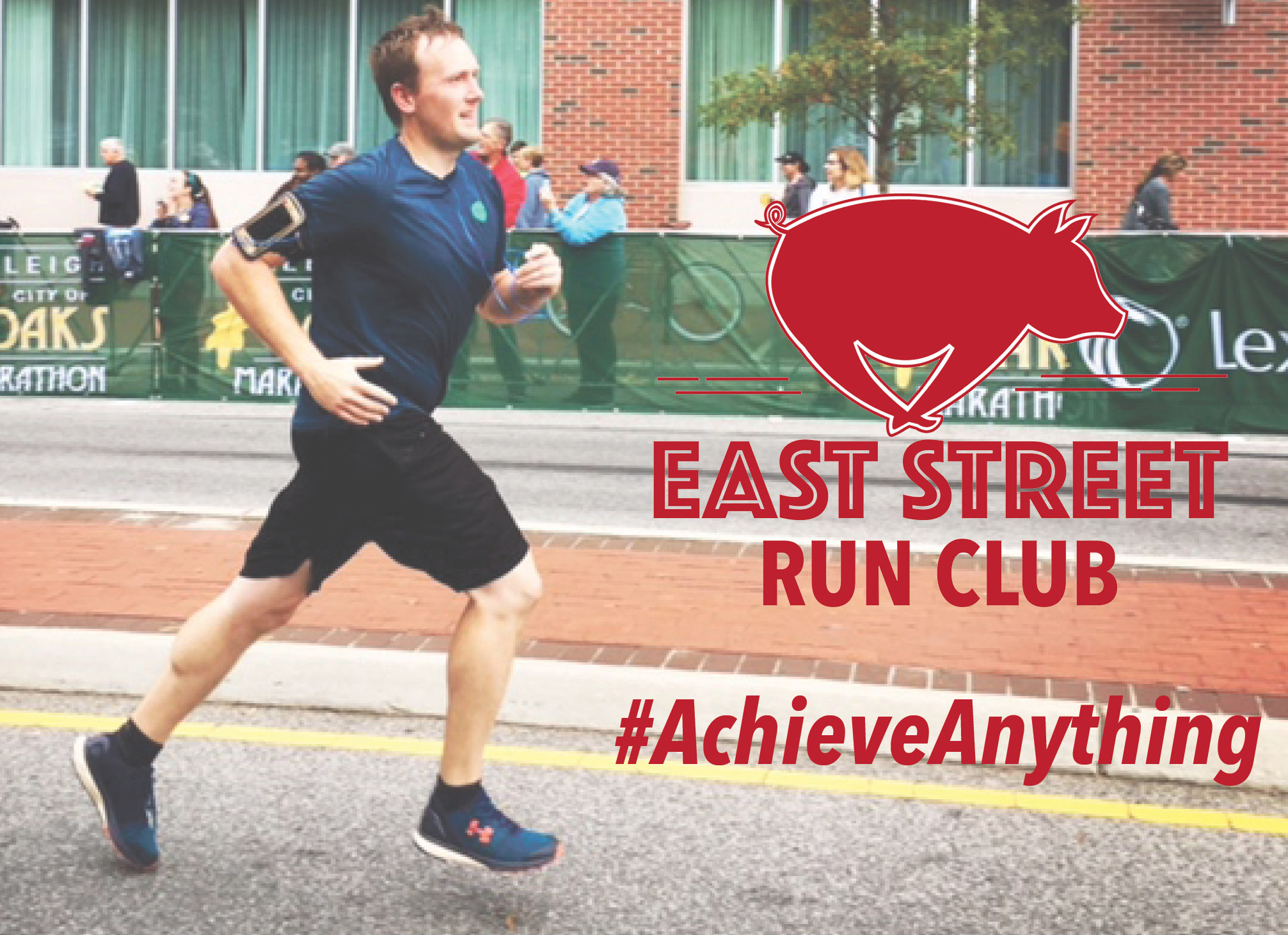 Runner East Street Run Club Graphic